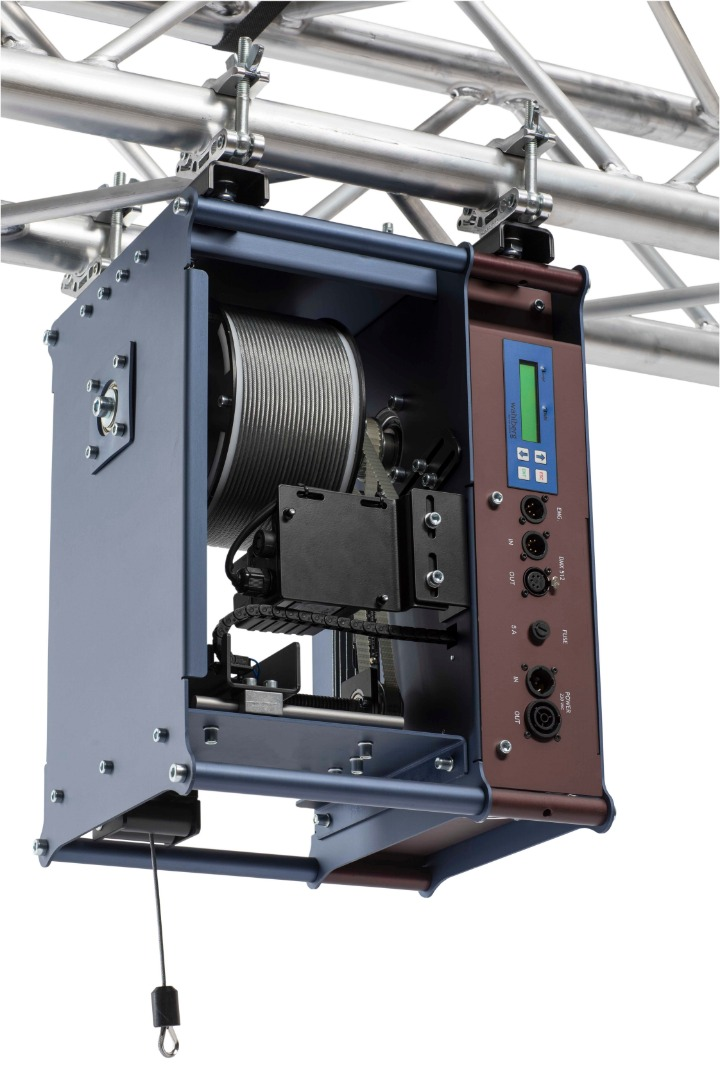 Winch 50 | DMX controlled lifting of your heavy stage props