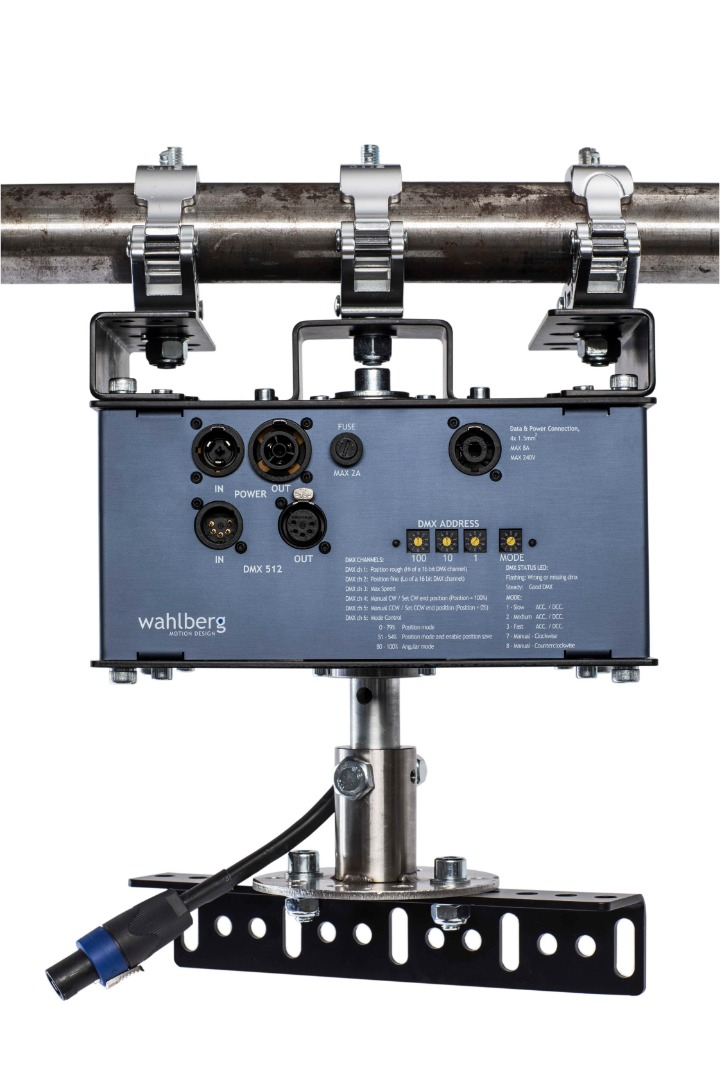 DMX Rotator with power outlet   Strong DMX Rotator motor for stage items
